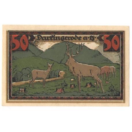 50 Pf banknot zastępczy Darlingerode 1921
