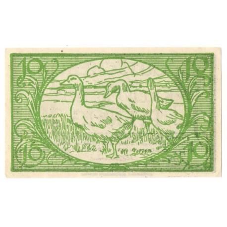 10 Pf banknot zastępczy Kreis Diepholz 1920