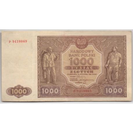 1000 zł, 1946, stan III, seria P