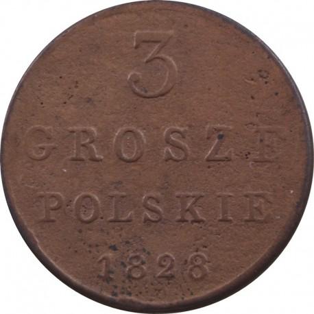 3 grosze, 1828, F.H., stan 3