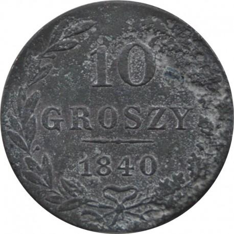 Królestwo Polskie 10 groszy 1840 MW, stan 3