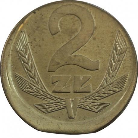 PRL 2 złote 1980 DESTRUKT st.2+