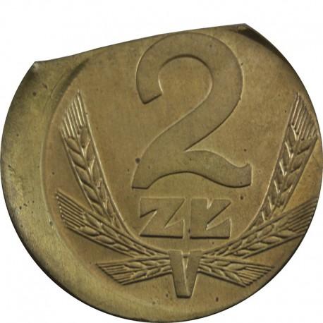 PRL 2 złote 1980 DESTRUKT st.1-