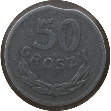 DESTRUKT 50 groszy 1974 stan 4