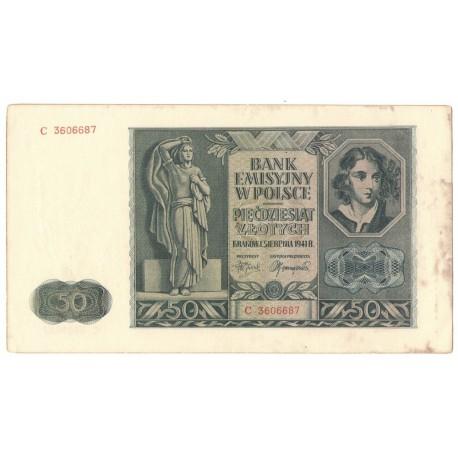 50 złotych 1941, stan 2-