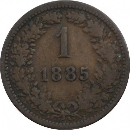 1 KREUZER 1885 AUSTRIA, stan 3