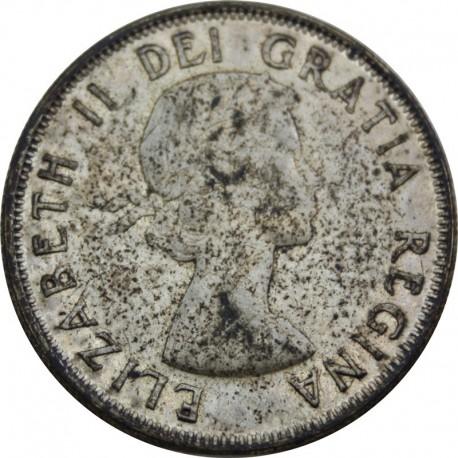 50 centów Elżbieta II 1956, stan 2-