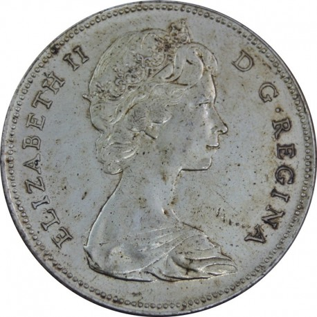 KANADA 1 DOLLAR 1967 GĘŚ, stan 3+