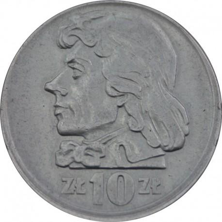 DESTRUKT PRL, 10 złotych, 1960 rok, Tadeusz Kościuszko stan 1-