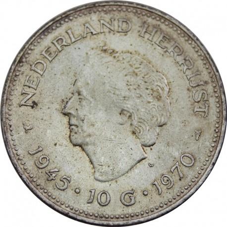 Holandia 10 guldenów, 1970, stan 2