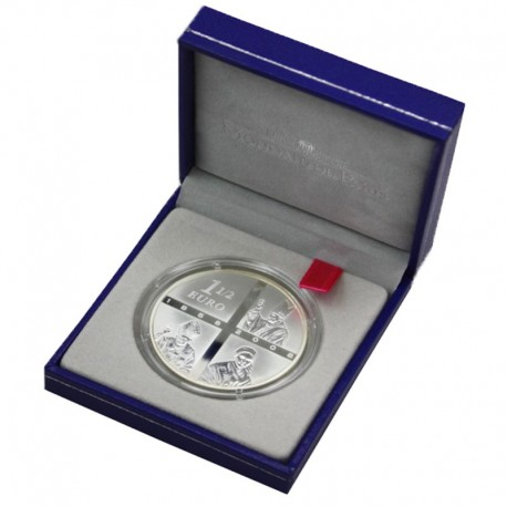 1,5 EURO 2008 Jan Paweł II Lourdes, moneta w etui