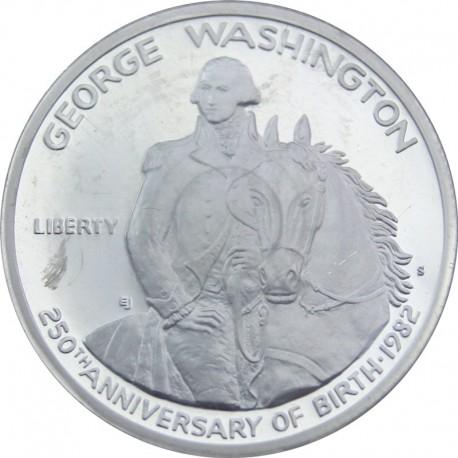 USA - 1/2 dolara - Washington - 1982 - srebro