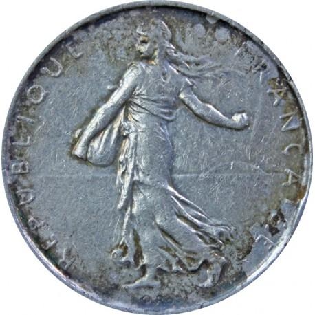 Francja 5 franków, odwrócony, 1962, stan 3-