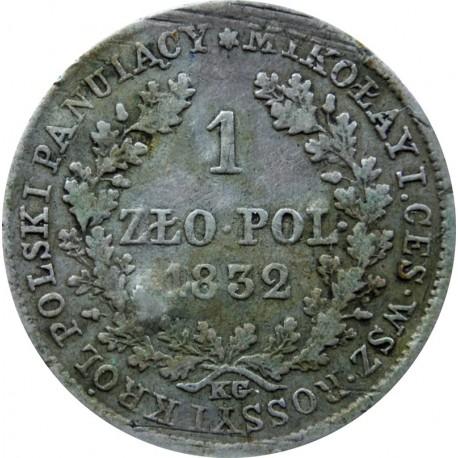 Królestwo Polskie 1 złoty 1832 st. 3-