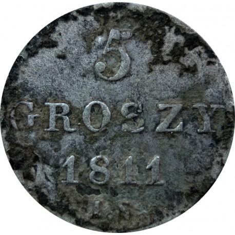 Księstwo Warszawskie, 5 groszy, 1811 I.S