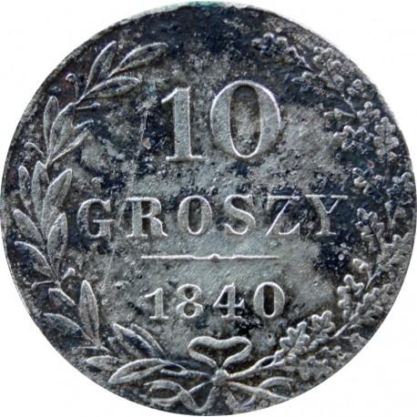 Polska, 10 groszy, 1840, MW