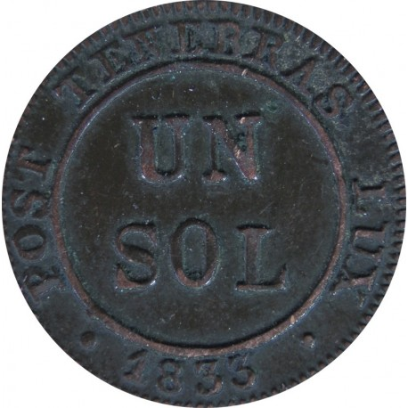 1 Sol, Genewa 1833 Swiss Canton
