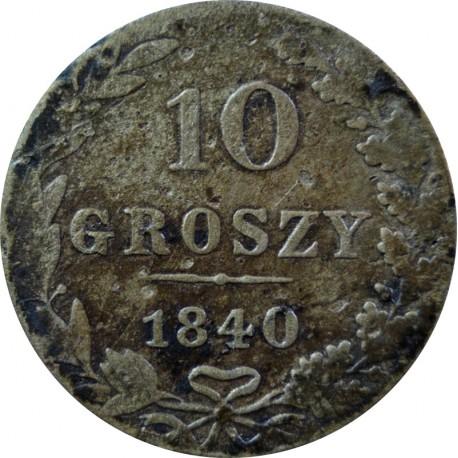 Królestwo Polskie 10 groszy, 1840, MW, stan 2