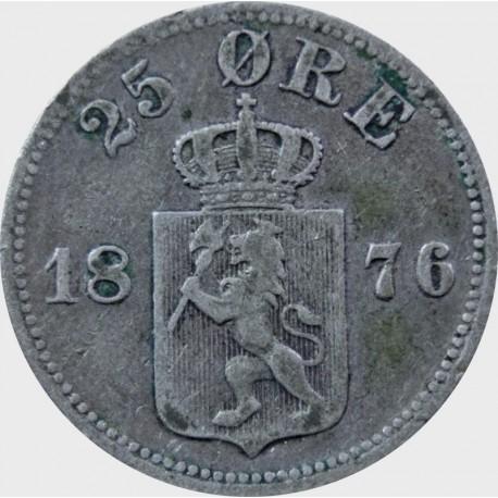 25 Ore, Norwegia 1876 st. 3