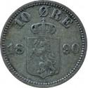 10 Ore, Norwegia st. 3 1890
