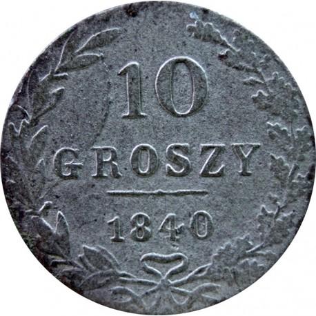 Królestwo Polskie 10 groszy, 1840, MW, stan 2, piękna