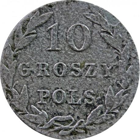 Królestwo Polskie 10 groszy polskich 1825 IB