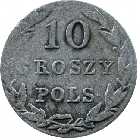 Królestwo Polskie 10 groszy polskich 1830 K-G
