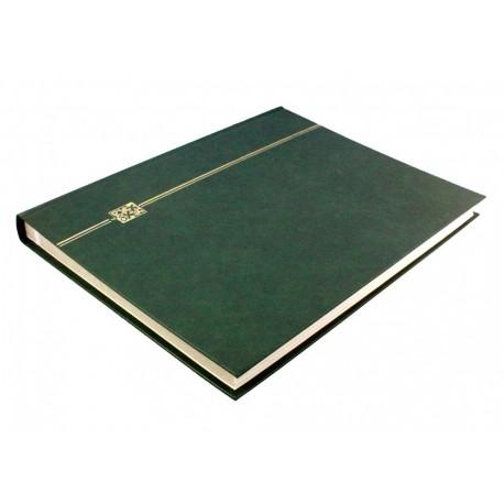 Klaser na znaczki 32 strony, zielony, skóra eko