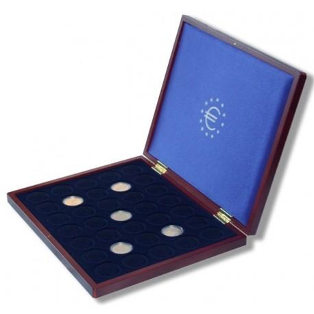 Mahoniowa kaseta do przechowywania 35 monet 2zł/2euro
