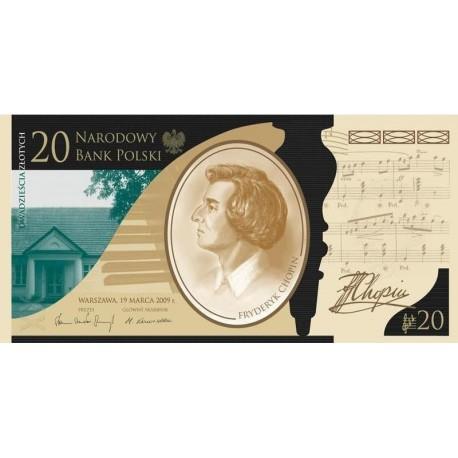20 zł, Banknot - 200. rocznica urodzin Fryderyka Chopina