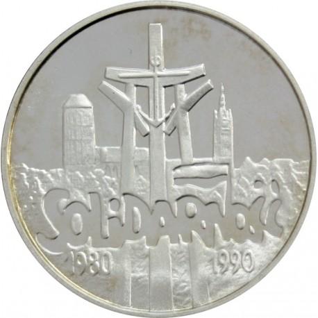 100 000 zł, Solidarność 1980-1990, (Mała - 32 mm)