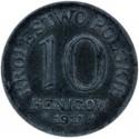 10 Fenigów 1917 FF Królestwo Polskie stan 3+