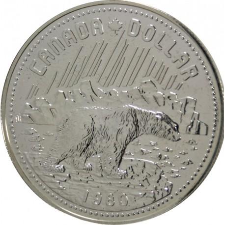 1 Dolar 1980 r. - Niedźwiedź Polarny - Kanada