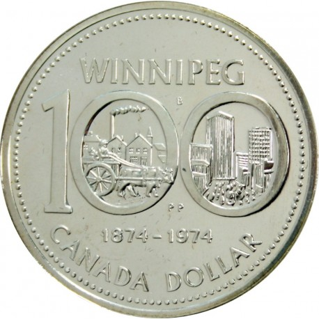 1 Dollar 1974 - 100-lat Winnipeg - Kanada