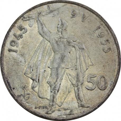 Czechosłowacja, 50 koron, 1955, stan 3+