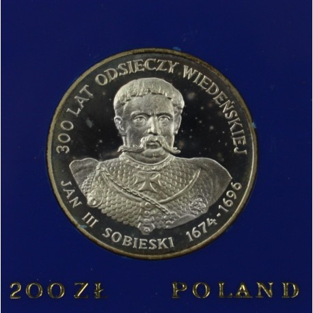 200 zł, 300 lat Odsieczy Wiedeńskiej, Jan III Sobieski 1983 r.