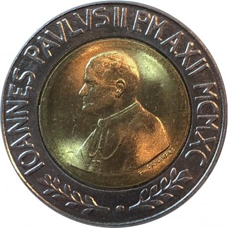 Watykan 500 lirów, 1990, stan 2+/1-