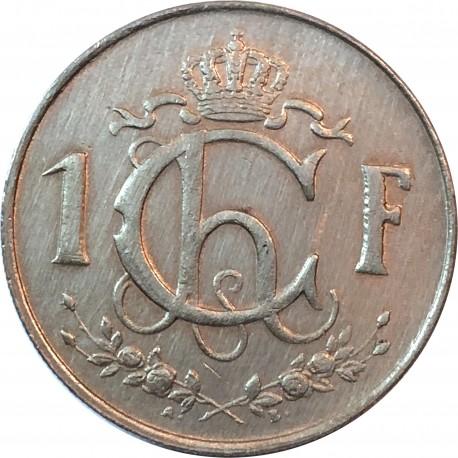 Luksemburg 1 frank, 1962, stan 2