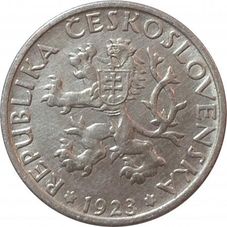 Czechosłowacja 1 korona, 1923, stan 2