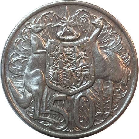 Australia 50 centów, 1966, Kangury, srebro