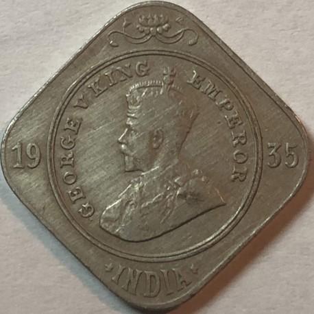 Indie - Brytyjskie 2 anna, 1935, stan 3+