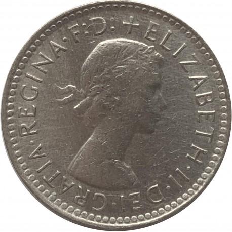 Australia 6 pensów, 1962, stan 3