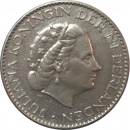 Holandia, 1 gulden 1957, srebro, stan 3+