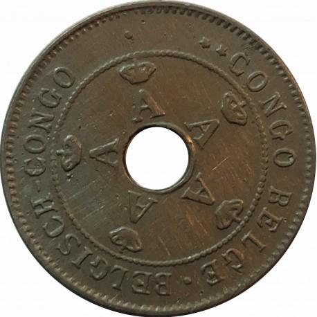 Kongo Belgijskie 10 centymów, 1911, stan 3