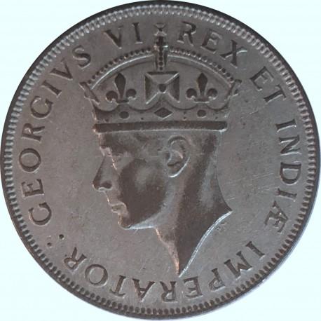 Brytyjska Afryka Wschodnia 1 szyling, 1942, stan 2-