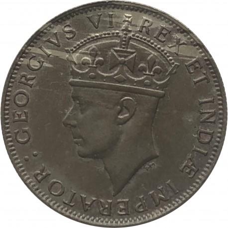 Brytyjska Afryka Wschodnia 1 szyling, 1945, stan 3+