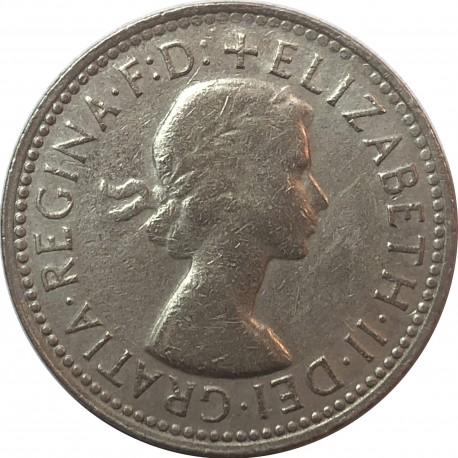 Australia 1 szyling, 1960, srebro, stan 3