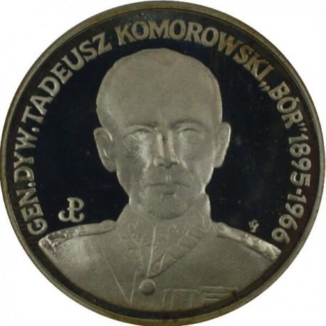 """200 000 zł, Generał Dywizji Tadeusz """"Bór"""" Komorowski, 1990 r."""