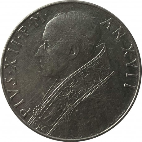 Watykan 100 lirów, 1955, stan 3