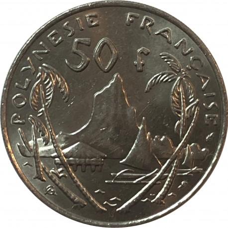 Polinezja Francuska 50 franków, 1975, stan 3